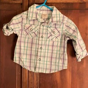 💙 Old Navy boys 3-6 months button up
